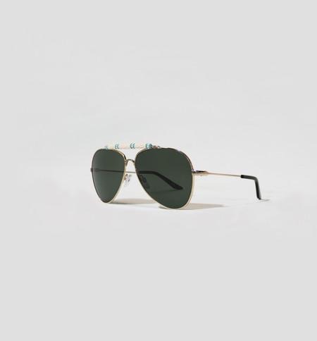 Michael Nelson Exclusive Sunglasses White/Light Blue