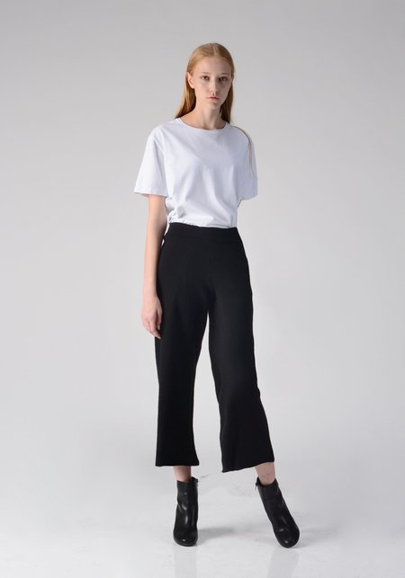 PURECASHMERE NYC Loose Fit Pants - Black