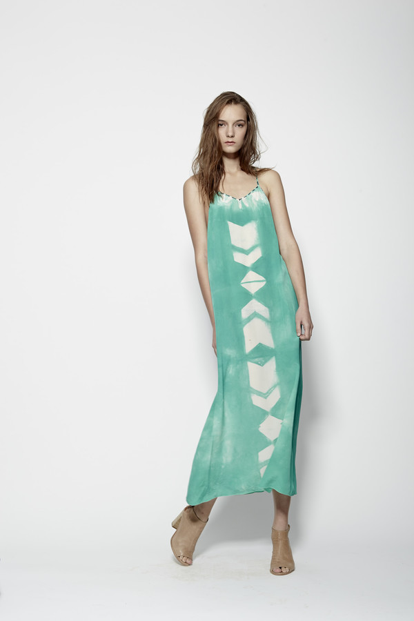 Laura Siegel Silk Dye Thin Strap Maxi