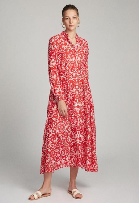 Saloni Inez Dress - Red