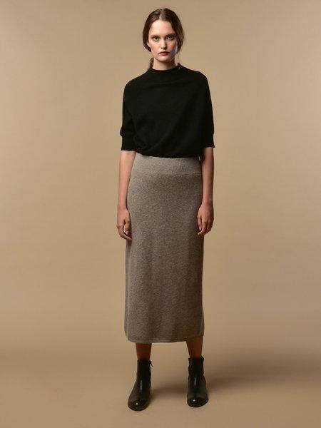 PURECASHMERE NYC Midi Skirt - Beige