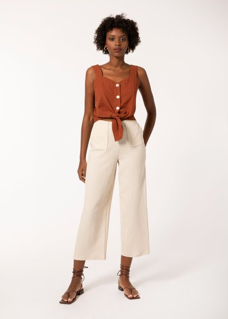 Mabel and Moss Calla Sleeveless Top - Brown