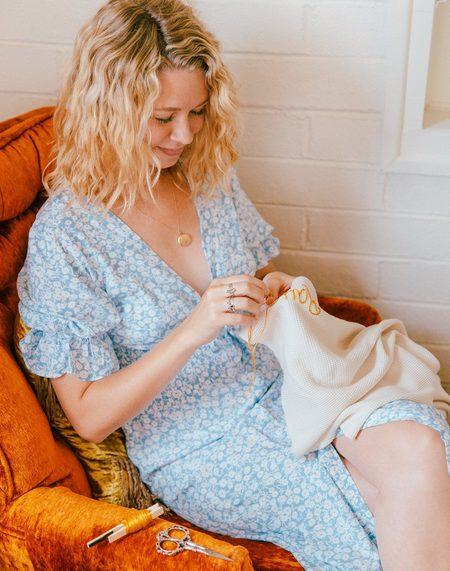 Kids Noble Custom Blanket Embroidery - White