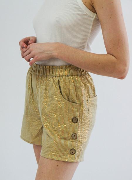 Jen's Pirate Booty Lost Palm Shorts - Gold Stripe Yucca