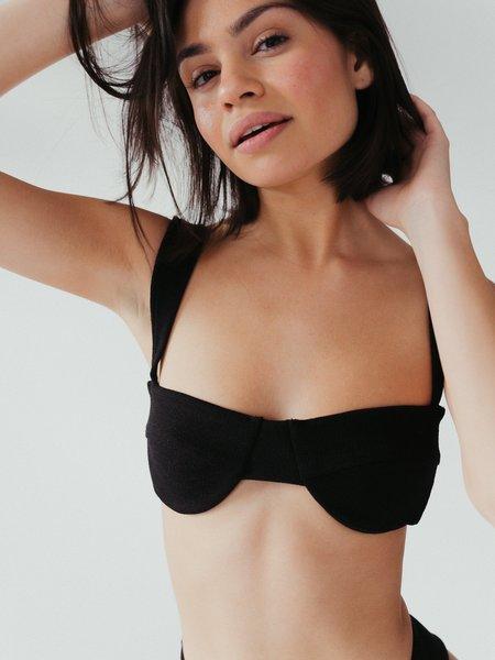 Ziah ella top - black bouclê