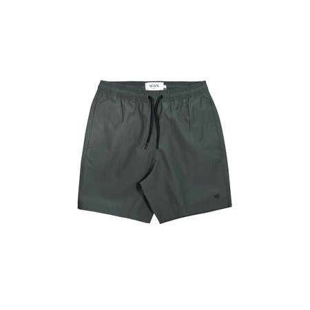 Wax Noden Check Swim Short - Olive