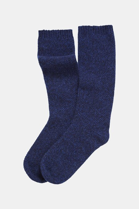 Oyuna Knitted Cashmere Socks - Marine