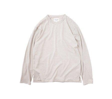 Still By Hand Striped Long-Sleeve Tee - Pink/Beige
