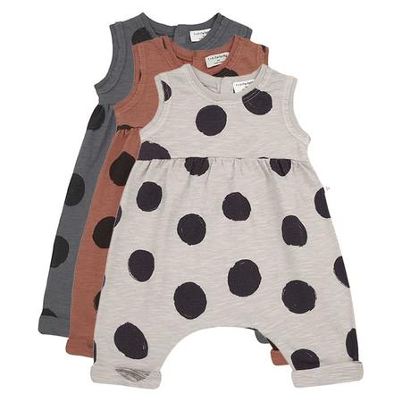 kids 1+ In The Family Baby Paula Dot Print Jumpsuit