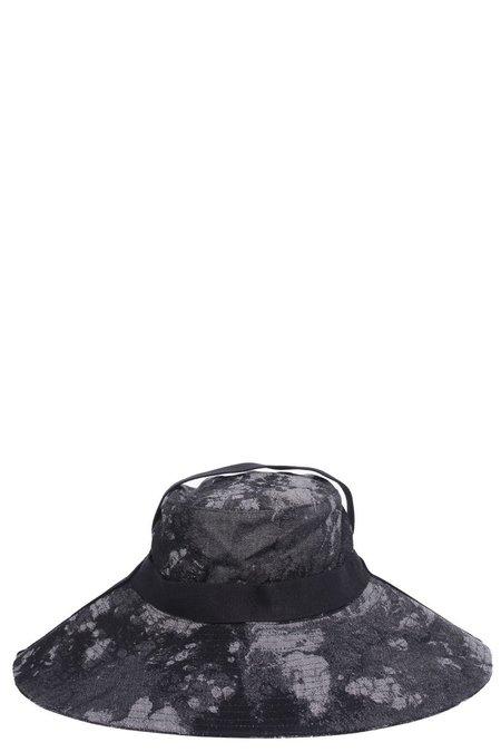 Tobias Birk Nielsen Acid Jacquard Snail Hunter Hat - Faded Black