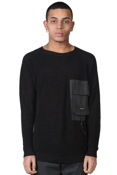 Tobias Birk Nielsen Rib Knit with Chest Pocket - Black