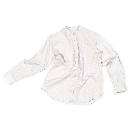 Nicholson & Nicholson Chant Collarless Button Down - White Stripe