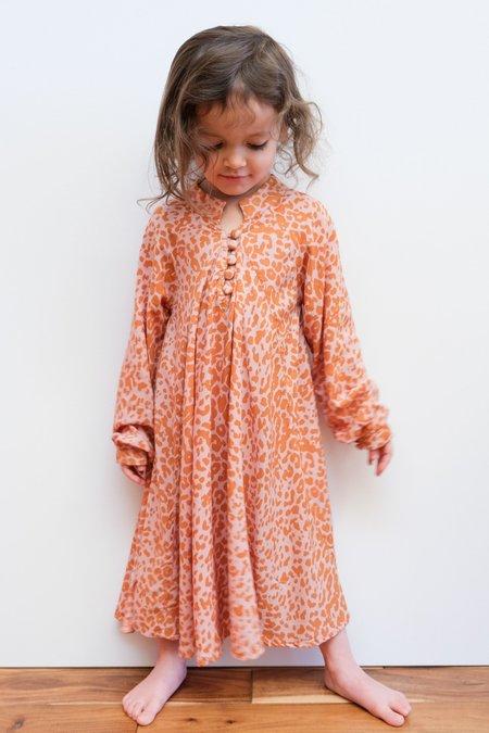Kids Natalie Martin Fiore Maxi dress - Leopard Blush