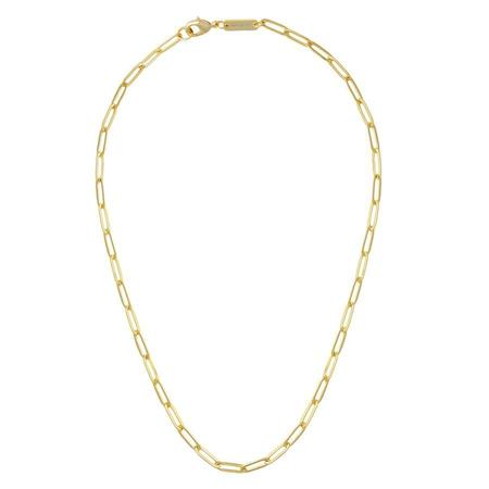 Machete Petite Paperclip Chain Necklace - Gold