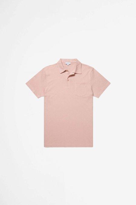 Sunspel Riviera Polo Shirt - Dusty Pink