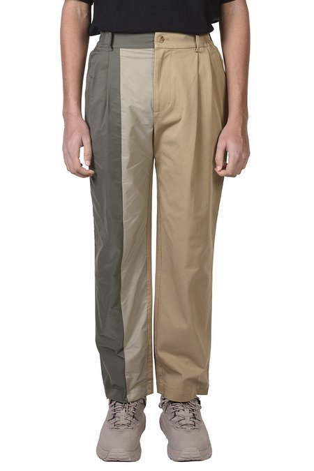 Feng Chen Wang Khaki Panelled Trousers - Khaki