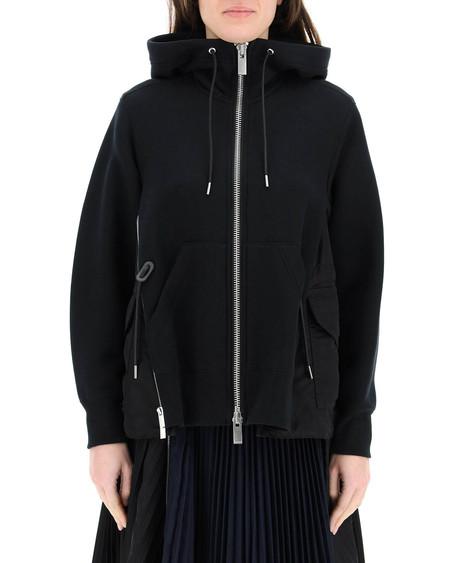 Sacai Hooded Cotton Sweatshirt