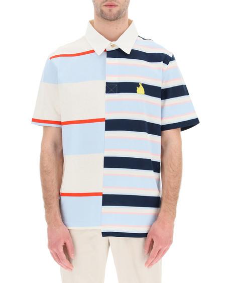 Lanvin Striped Patchwork Polo Shirt - Multicolor