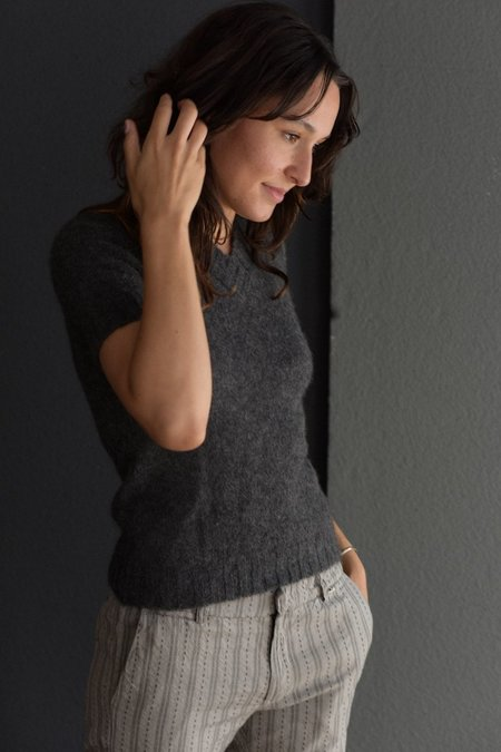 Private 0204 Short Sleeve Cashmere/Silk Sweater