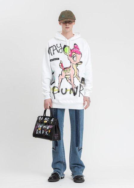 Guernika Paint Neon Bambi Hoodie sweater - White