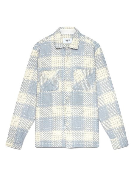 Wax London Whiting Shirt - Ecru/Raindrop Beatnik