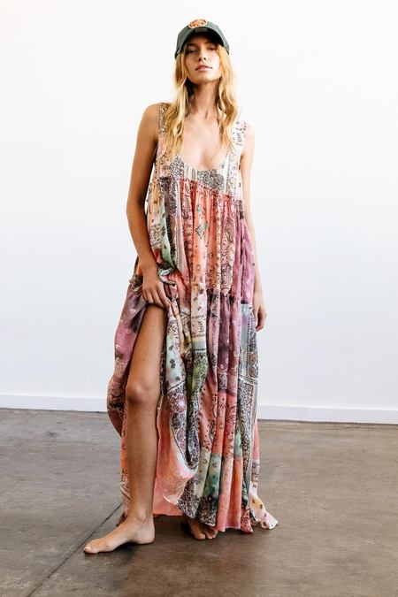 Free People Bandana Rama Maxi Dress - Multi Combo