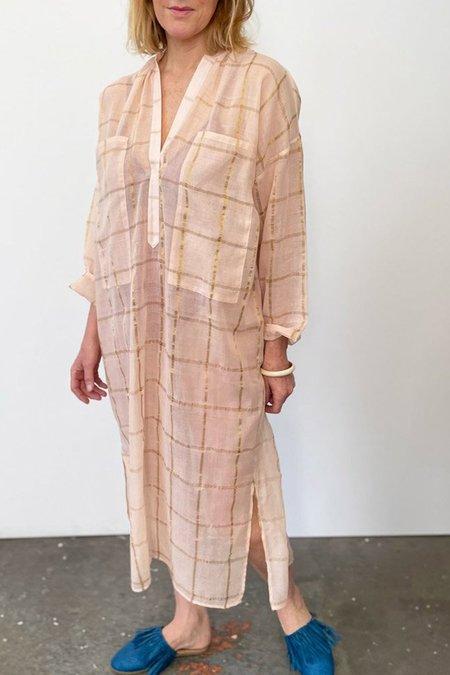 Two New York Sheer Caftan dress - Pink/Gold