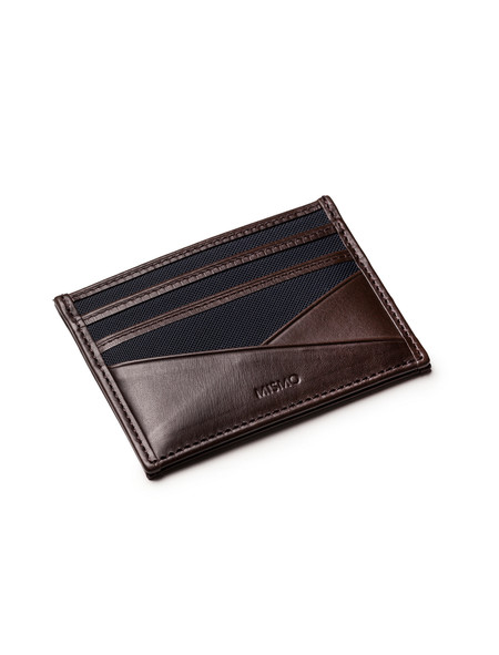 Mismo Mens MS Cardholder - Navy/Dark Brown