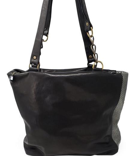 Laura B Milena Leather Shopper bag - Black