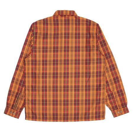 PLEASURES Shade Plaid Work Shirt - Orange
