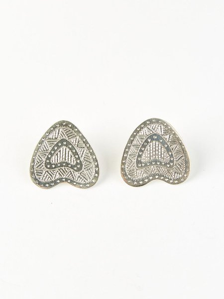 Ombre Claire ombres feuille earring - silver