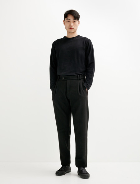 James Coward Pant 003 Melton Wool Black