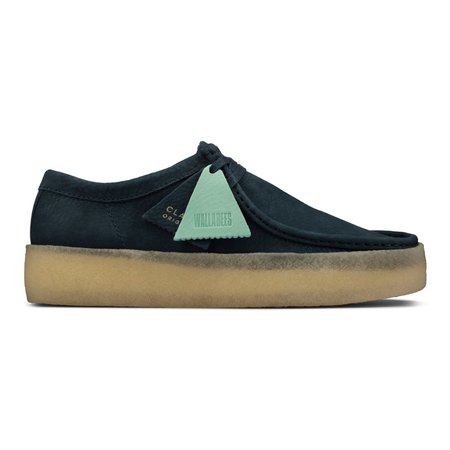 Clarks Wallabee Cup shoes - Blue Nubuck