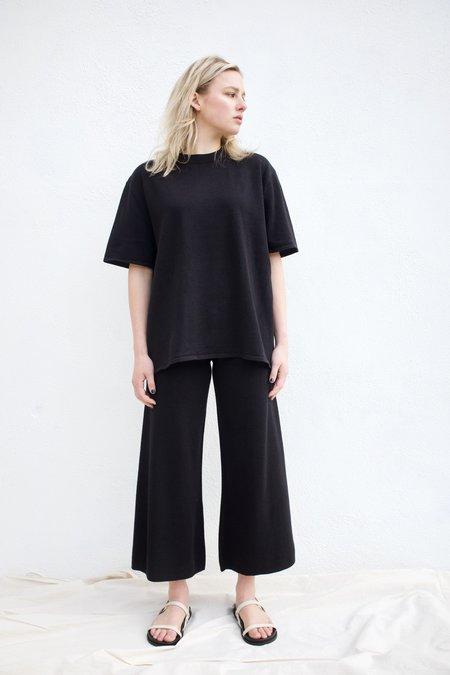 St. Agni Hemp Knit Lounge Pant - Black