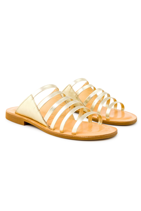 Cocobelle Dahlia Leather - Platino Sandal