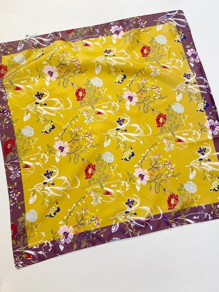 Épice Paris LS2151 Floral Silk Carré/Bandana - Honey