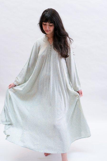 Natalie Martin Fiore Maxi dress - Light Blue Coral