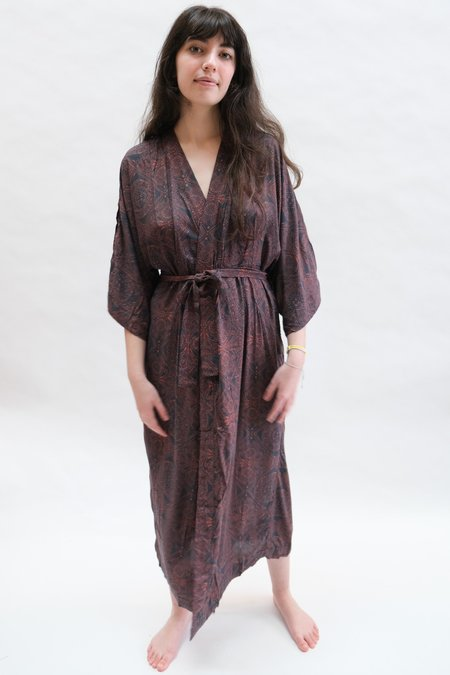 Natalie Martin Georgia Wrap dress - Moroccan Tile Indigo