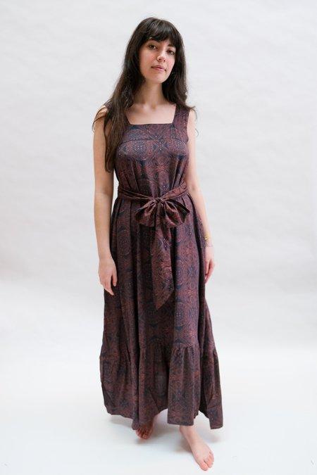 Natalie Martin Virginia Dress - Moroccan Tile Indigo