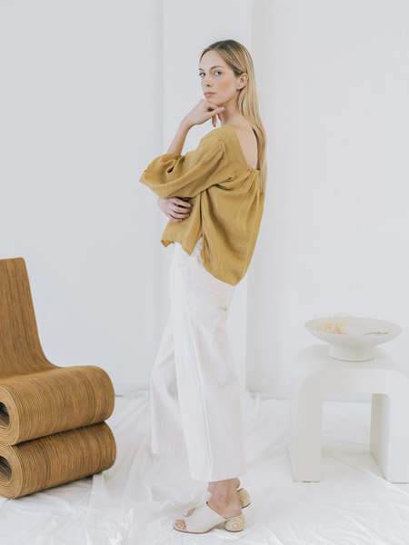 LAUDE the Label Maude Top - Turmeric Linen
