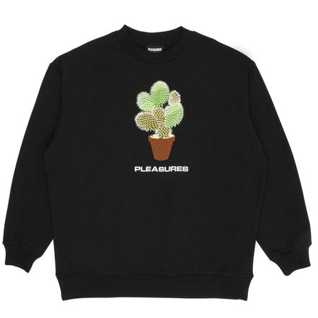 PLEASURES Spike Embroidered Crewneck sweater - Black