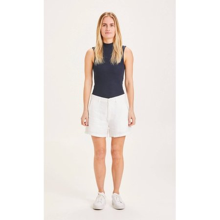 knowledge cotton apparel Senna loose linen shorts - white