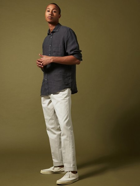 Hartford Paul Linen Shirt - Charcoal