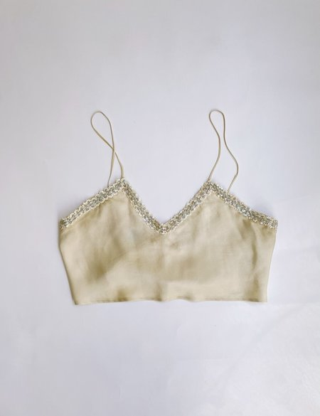 Laurs Kemp Upcycled Silk Camisole - creme/silver