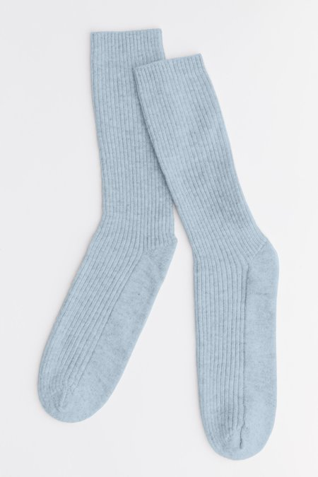 Laing Home The Sleeper Cashmere Bed Socks - Misty Jade