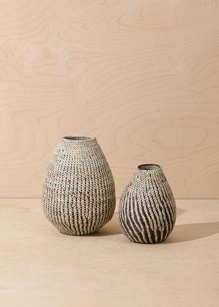 Territory Baobab Basket - Black/White