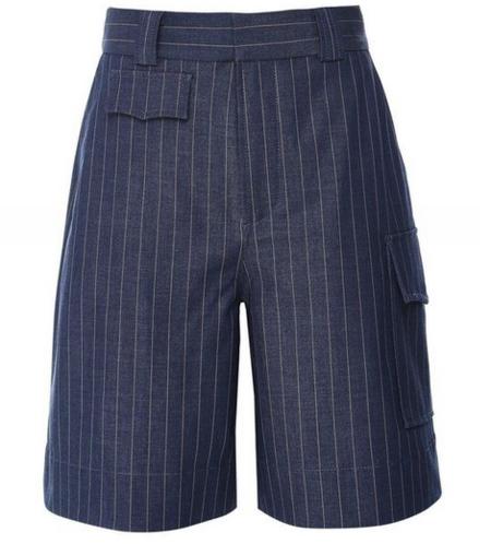 Ganni Stretch Stripe Short - Blue