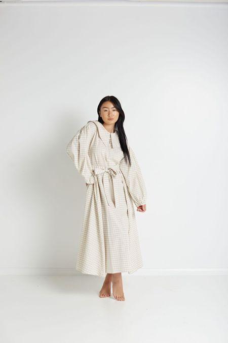 Little Tienda Lotta Dress - Oat Gingham