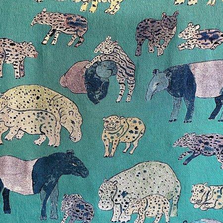 Olivia Wendel Hippos and Tapirs Blanket - Blue