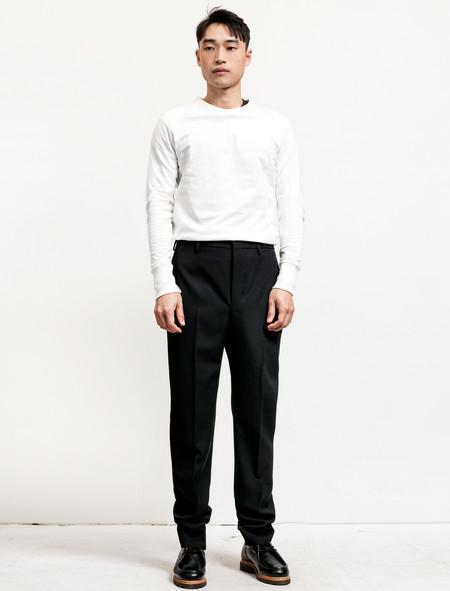Lemaire Suit Pants Wool Gabardine Black